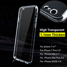 Phone Cases For iPhone 6 Transparent TPU Gel Case Cover For iPhone 7 Plus 5s Protect Camera Back Cover Soft Silicone Shell