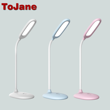 ToJane TG108-C Led Reading Lamp 5W Rechargeable Led Desk Lamp 3 Brightness Levels Led Table Light Touch Control Lampe Bureau