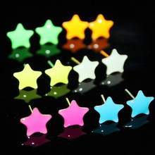 1 pair Star Heart Round Plum Blossom Triangular Shaped Glow In Dark Luminous Alloy Ear Studs Earrings Fashion Women Jewelry(China)