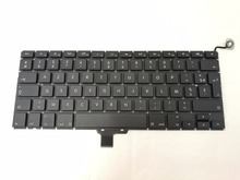 "5pcs/ lot New Genuine Laptop France Layout For MacBook Pro 13.3"" A1278 AZERTY FR French Keyboard 2009-2012 Year(China)"