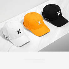 Street Hip Hop Brand English Embroidery Personalized Ribbon Men and Women Black White Orange Baseball Cap Snapback Sun Hat