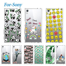 Lovely Soft Tpu Case For Sony Xperia Z1 Z3 Z5 Compact MIni M2 M4 Aqua XA Z L36h Z2 E3 C4 SP M35h Soft Silicone Case Cover(China)