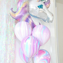 1set Birthday Party Decorations kids Foil Balloons Large Size Unicorn Latex Balloon Party Supplies Wedding/Halloween/Christmas(China)