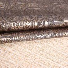 PVC Leather Fabrics Synthetic Leather Material DIY Handmade Soft Case Tanned Leather Egypt pattern Photographic Background Props