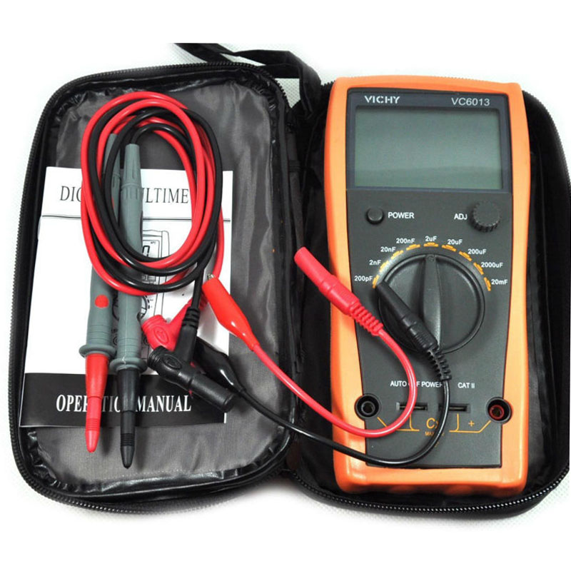 Digital multimeter VC6013 M012 200pf to 20mF discharge digital capacitor / capacitance meter tester tool<br>