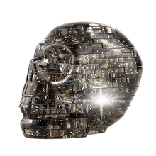 3D Crystal Skull Jigsaw Puzzle Assembly Skull Skeleton Model Gift Toy with Flashing Lights Kids Child Developmental Toy