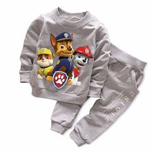 2017 New Autumn Boy's Girl's Clothing Sets Sport Pullover Set Fashion Kid 2pic Suits Set Toddler Striped Tracksuit(China)