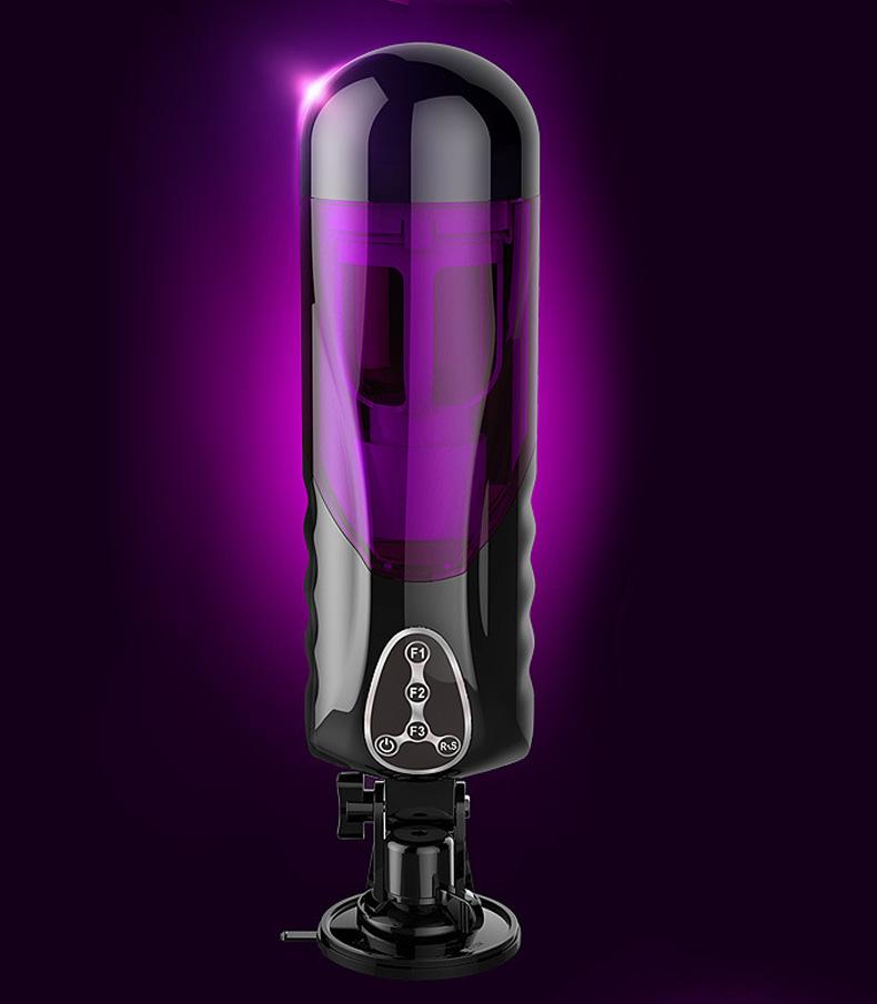 Automatic Telescopic Rotating Voice Machine Male Masturbator Pocket Pussy Vibrator Sex Toys For Men Hands Free Masturbation Cup 2