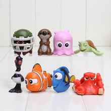 8pcs/set Finding Nemo Clownfish Marlin Nemo Hank Action Figure Toys Collectible Models Doll toys