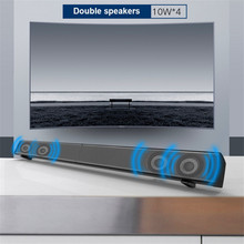 40W  2.0 ch tv soundbar home theater 3D surround with remote control support aux micro SD blue tooth coaxial optical