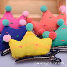 2015 New Clothing for Dogs Pet Shop Pet Jewelry Hairpin Headdress Korean Candy Color Dog Hair Accessories Cute Adorable Crown(China)