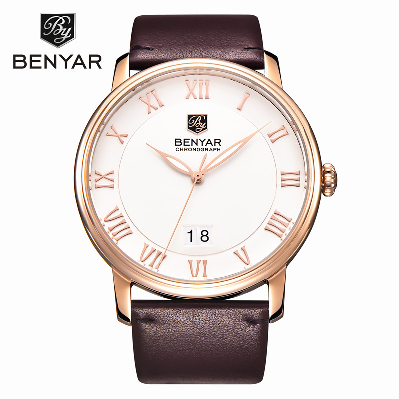 Reloj Hombre 2017 BENYAR Brand Fashion Casual Business Watches Men Date Waterproof Quartz Mens Watch Relogio Masculino<br>