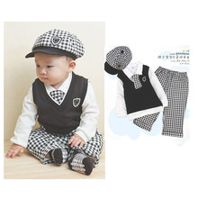 Newborn Baby Boy Clothes Set 5 PCS Formal Baby Suits Outfit Infant Boy Designer Clothes Gentleman Suit  Wedding Suits