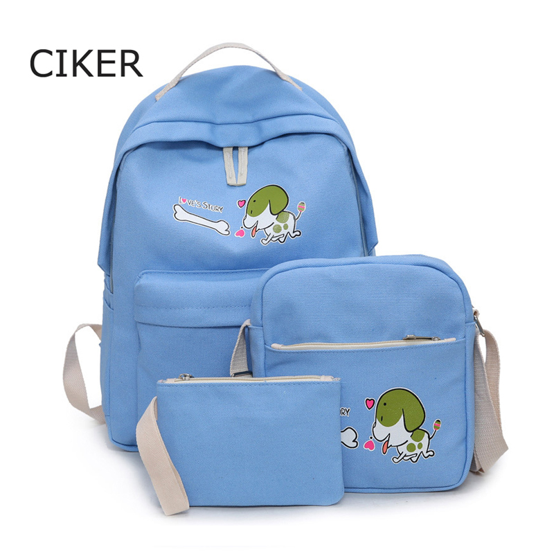 CIKER 2017 preppy style dog printing backpack women rucksack school bags for girls laptop backpack for teenagers mochila escolar<br><br>Aliexpress