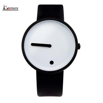 2017 presente enmex cor legal relógio de pulso estilo minimalista design criativo ponto e linha simples elegante com relógio de forma de quartzo