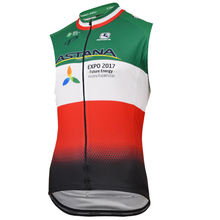 ASTANA 2017 Summer Team Men Sleeveless Cycling Jersey Ropa Bike Clothes Quick Vest  Bycicle Tops Clothing Ciclismo Maillot