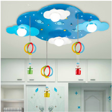 Modern children's bedroom lights, men and girls room ceiling light, cartoon  clouds will fall umbrella shaped lamp, LED lamp