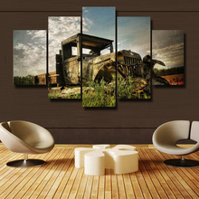 With Framed 5p Canvas Printings Beautiful Picture Modern Art Wall A Living Room Decorate Big truck  Free Shipping