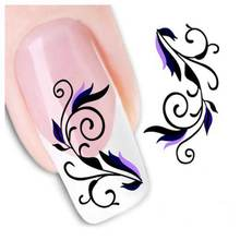 1PCS Fashion Flower Stickers Ongles Christmas Nail Stickers Water Transfer Sticker Nail Art French Manicure DIY Beauty