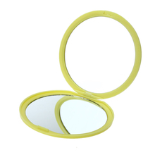 Makeup Mirror Folding Pocket Mirror Compact Silicone Portable Round Hand Mirrors Makeup Cosmetic Beauty Tools