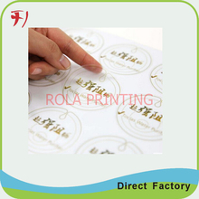 Custom self adhesive cosmetic label,self adhesive sticker paper manufacturer