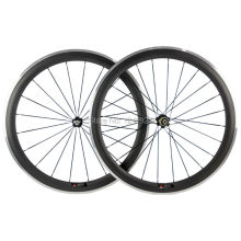 Alloy Braking Surface Carbon Wheelset Road Bike 700C Aluminium 50mm Carbon Wheels Clincher Race Bike Chinese Carbon Fibre