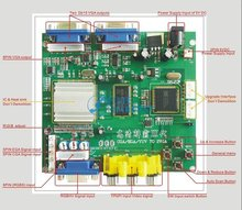 2 Pcs of RGB TO VGA / CGA TO VGA converter board/2 VGA output-game accessory for arcade game machine/LCD game machine