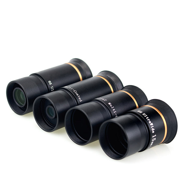 LAIDA FMC 1.25 Eyepiece Kit 66-Degree Ultra Wide 691520mm (3)