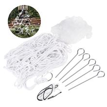 Halloween Spooky Spider Web Set White Giant Spiderweb for Haunted House Decoration(China)