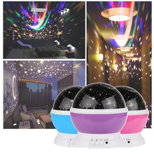 Romantic Rotating Spin Night Light Projector Children Baby Sleep Lighting Sky Star Master USB Lamp Led Projection for Kids Gift