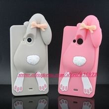 For Microsoft Nokia Lumia 535 Case Hot 3D Silicon Bunny Rabbit Cartoon Soft Cell Phone Back Cover for Nokia Lumia 535