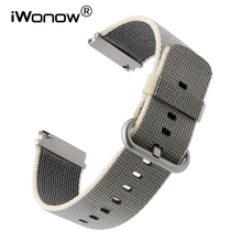 22mm Quick Release Nylon Watchband for Fossil Diesel DZ Timex Armani CK Watch Band Fabric Strap Wrist Bracelet Black Blue Brown(China)