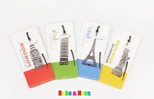 New Creative memory of tower designs Metal Bookmark Book marks Wholesale(China)