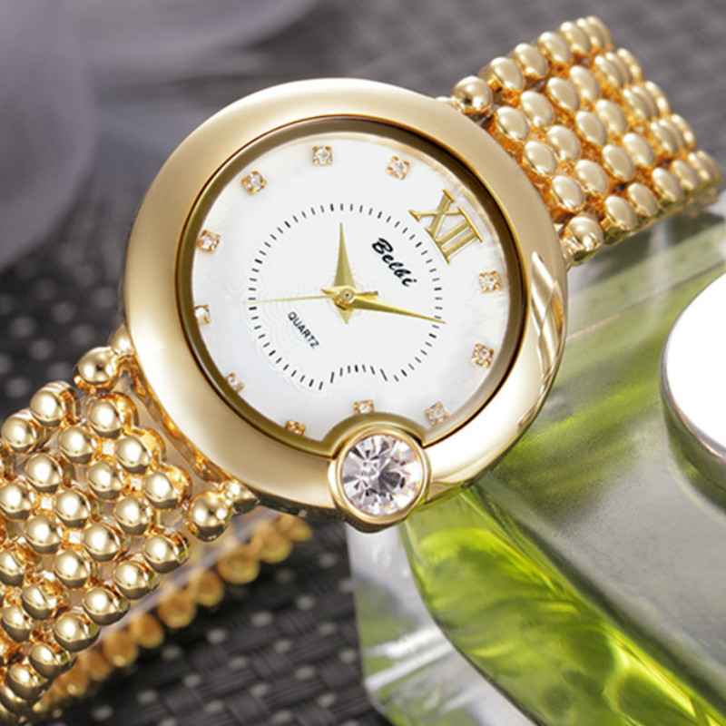 Feminine Women Casual Watches Quartz-watch Stainless Steel Wristwatches Folding Clasp with Safety Watches<br>