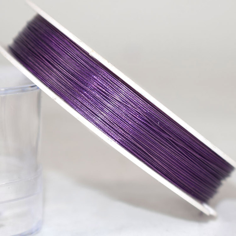 Wire Purple Jewelery Making Beading Findings Supplies 0.38 MM