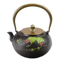 Buy 1.2L South Japan Cast Iron Tea Pot Green Grape Kettle for $71.44 in AliExpress store