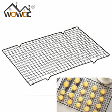 WOWCC High Quality Black Rectangular Metal Mesh Nonstick Cake Cooling Rack Net For Cookies/Pies And Cakes Baking Rack Icing