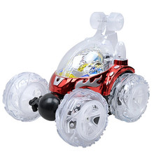 Remote Control Car Rechargeable Stunt Acrobatic Toy Gift w/ Flash Light Music