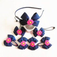 Free shipping 320pcs/lot Boutique Hair Bow with Daisy Boutique hair bow Headband for girls(China)