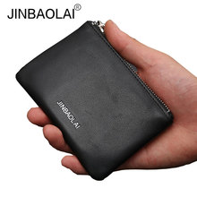 2017 Hot Genuine Leather Coin Purses Wallets Famous Brand Women Men Zipper Bag Mini Wallet Purse Coin Pouch for Men(China)
