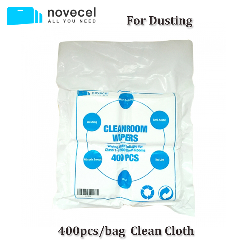400pcs/lot LCD Screen Cleaning Cloth Dust-free film Wiping Clean Cloth 10cm*10cm for Mobile Phone Screen Repair