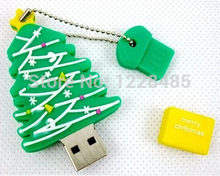 best selling  usb flash drive 4gb 8gb 16gb 32gb 64gb beautiful  cartoon christmas tree USB Flash 2.0 Memory Drive Stick S535