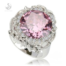 First class products Hot  Pink Cubic Zirconia Silver Plated RING R522 sz#6 7 8 9  Recommend Promotion Favourite Best Sellers