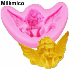 Milkmico M863 Angel Baby Silicone Candle Mold Resin Clay Molds Baby Party Fondant Cake Decorating Tools Chocolate Candy Mould