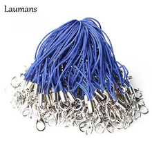 Laumans 20 pieces/LOT Nylon cell phone mobile chain straps keychain Charm Cords DIY Hang Rope Lanyard neck rope
