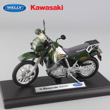 1/18 scale Children's mini metal 02 KAwasaki KLR 650 model motorcycle moto bike toys racing Diecasts Rally for boys free wheels