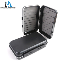 Maximumcatch Fly Fishing Box Black Plastic Large Size 168*95*46mm With Swingleaf Waterproof Fly Box
