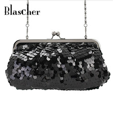 2017 New Fashion Free Shipping Women Clutch Bags Dazzling Glitter Sparkling Women Fashion Sequins Women Evening Bag HBF14