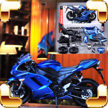 New Arrival Gift DIY 1/12 Model Motorcycle Car Collection Series Alloy Frame  Assemble Toys Kids Education Family Game Present