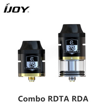 Original iJOY Combo RDTA RDA Sub Ohm Tank 6.5ml capacity Atomizer With Side Filling System For E Cigarette 510 thread Box Vape